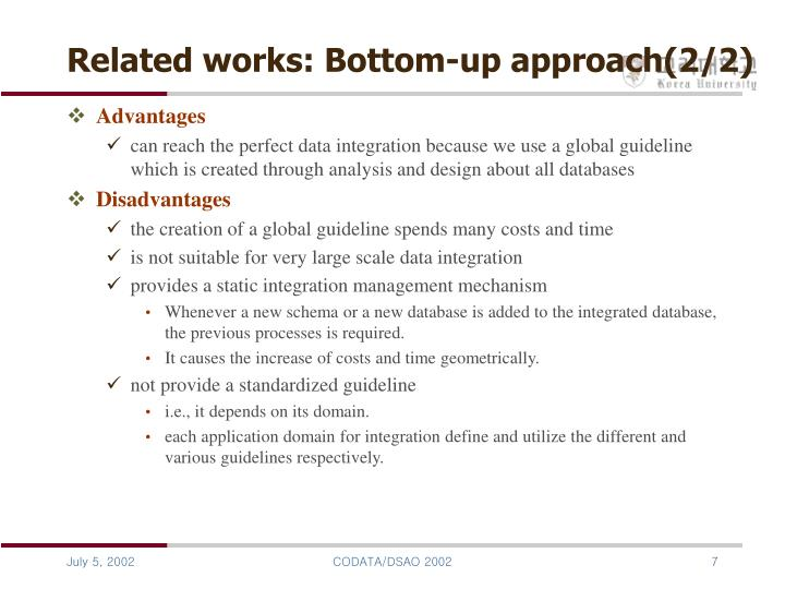 Related works: Bottom-up approach(2/2)