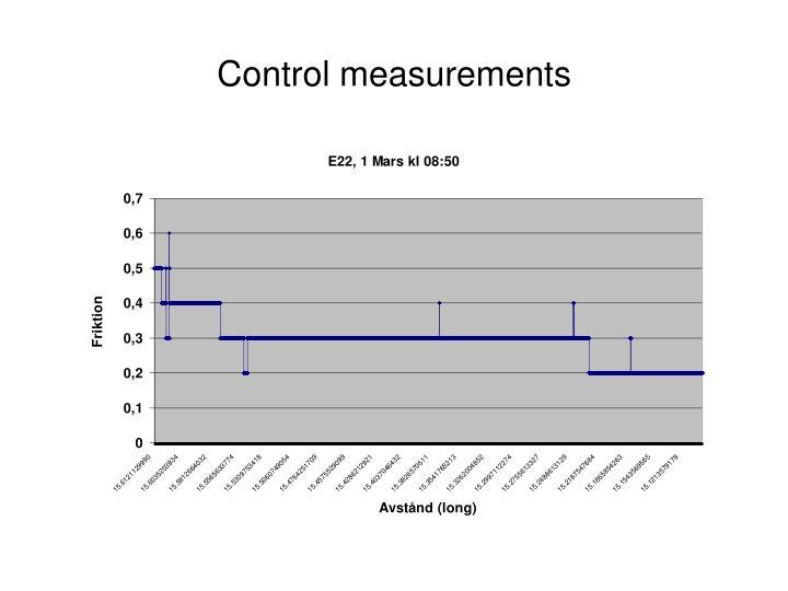 Control measurements