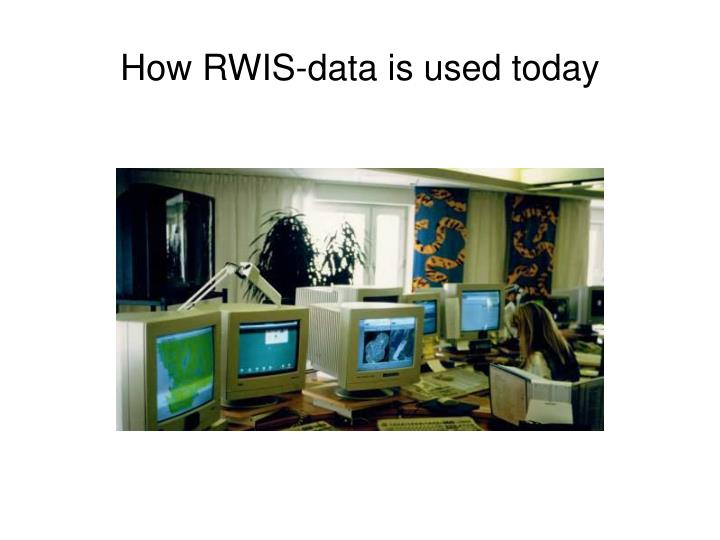 How rwis data is used today