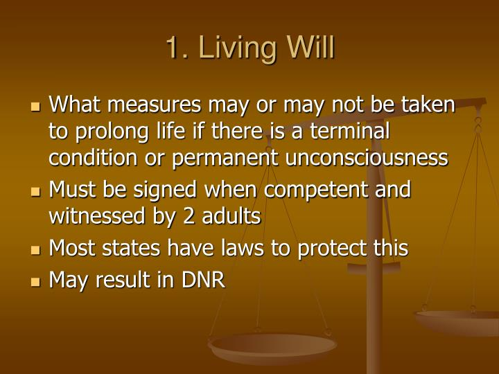 1. Living Will