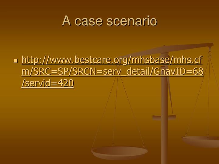 A case scenario