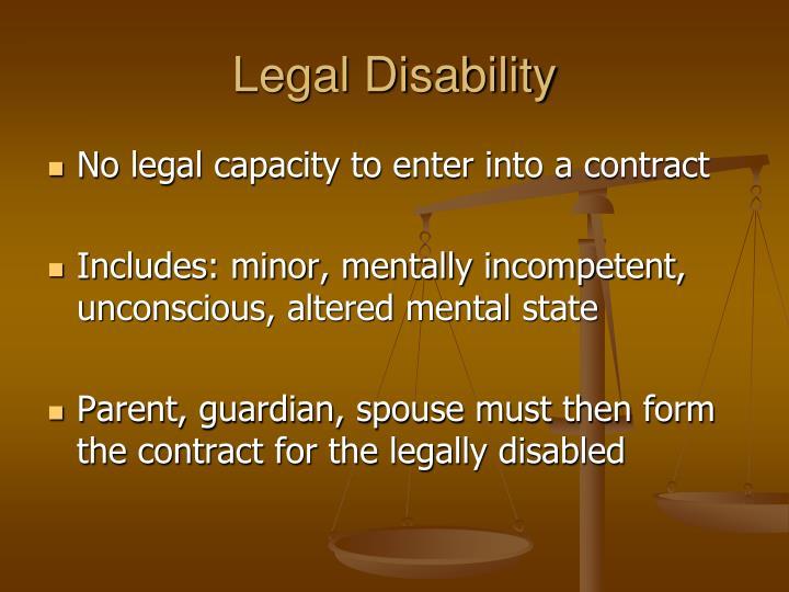 Legal Disability