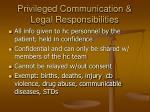 privileged communication legal responsibilities
