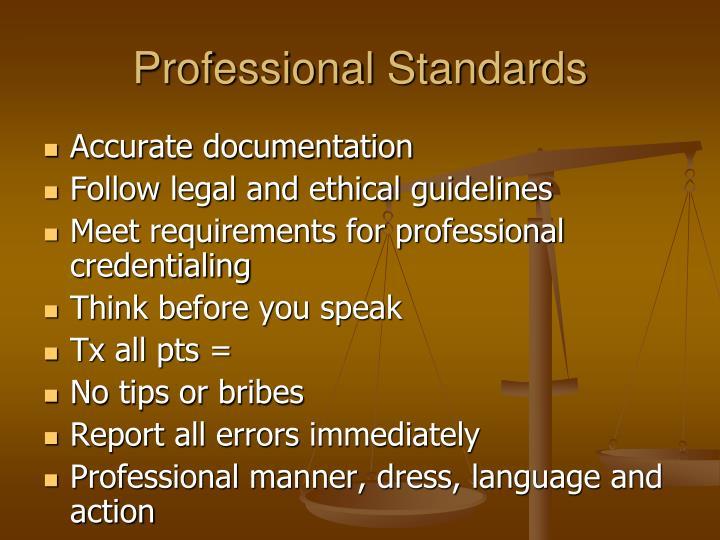 Professional Standards