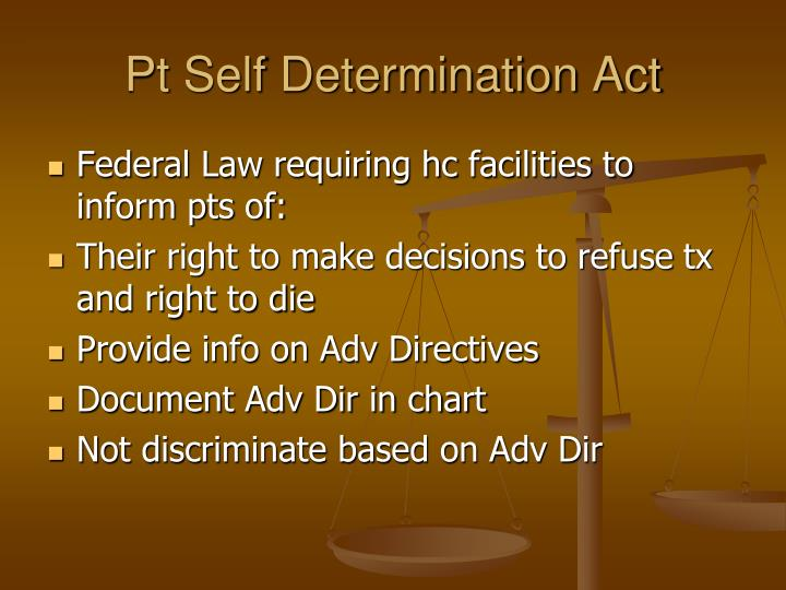 Pt Self Determination Act