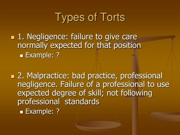 torts of negligence essay