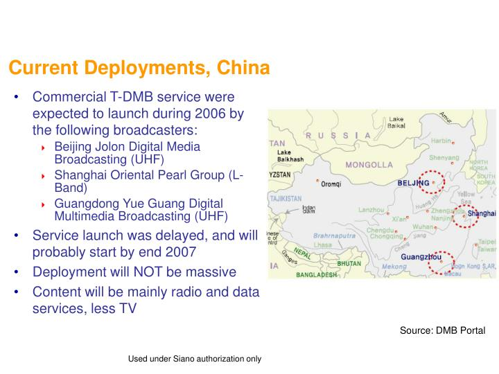 Current Deployments, China