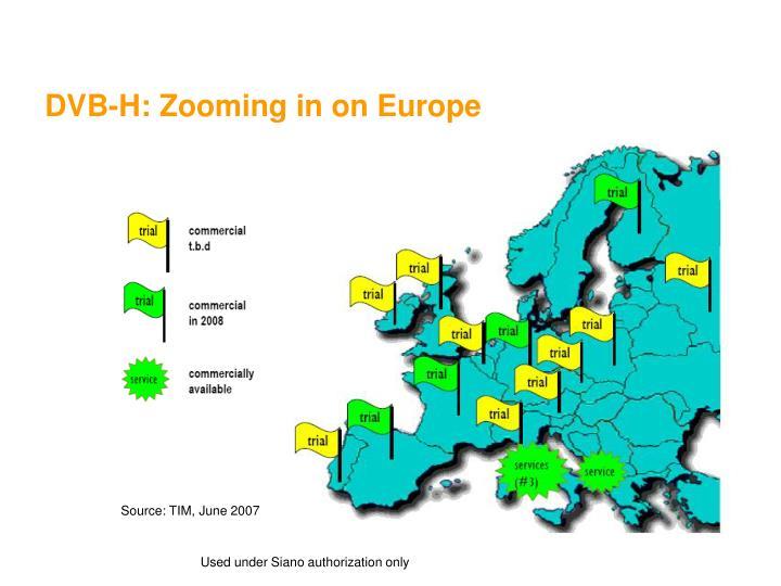 DVB-H: Zooming in on Europe