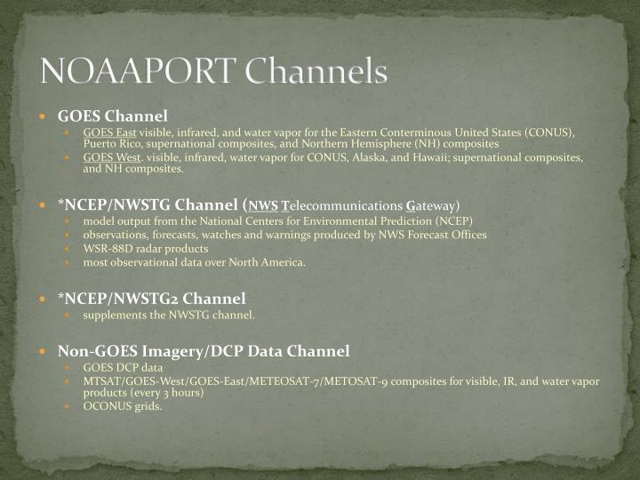 NOAAPORT Channels