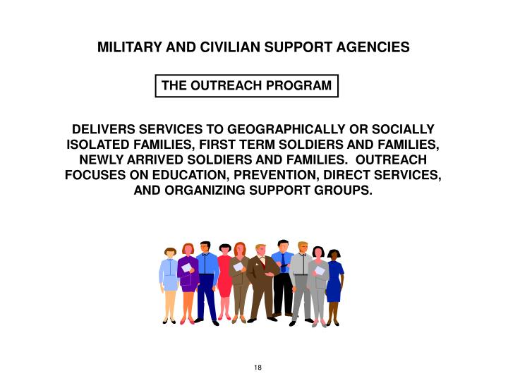 MILITARY AND CIVILIAN SUPPORT AGENCIES