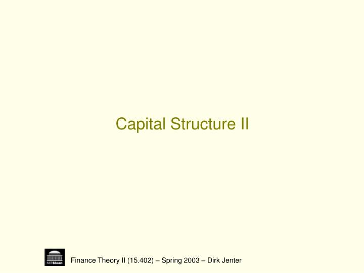 Capital structure ii
