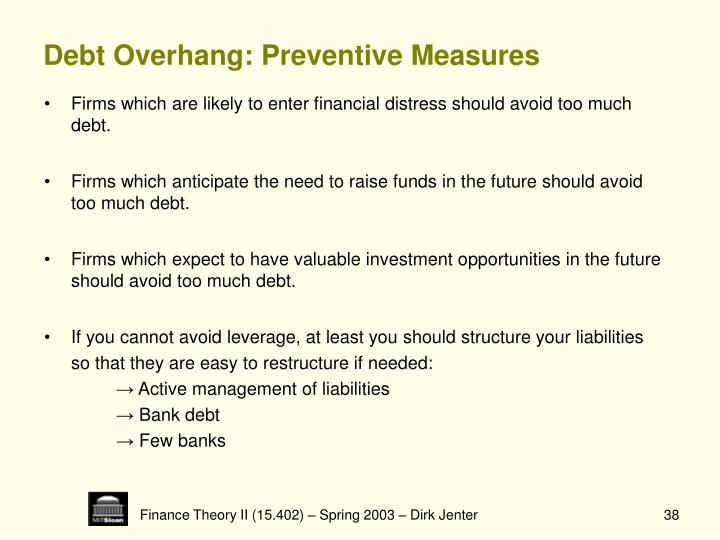 Debt Overhang: Preventive Measures