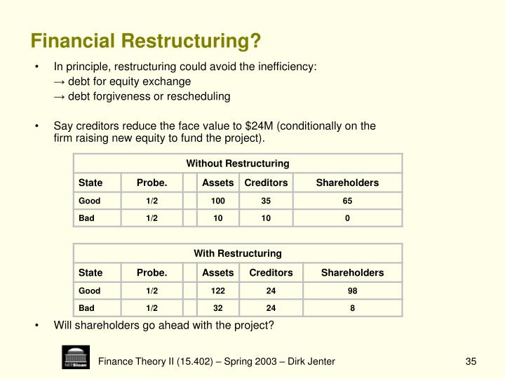 Financial Restructuring?
