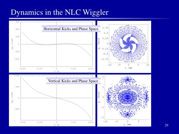 Dynamics in the NLC Wiggler