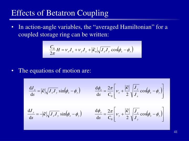 Effects of Betatron Coupling