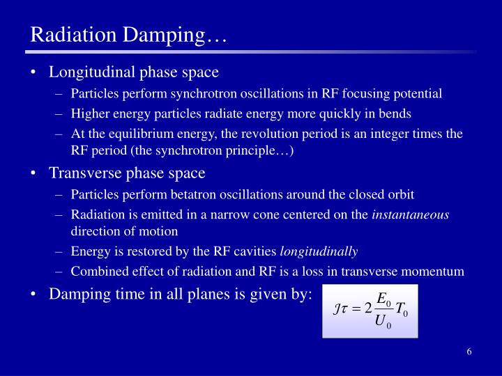 Radiation Damping…