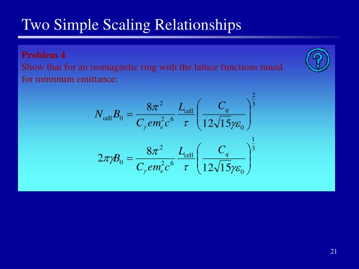Two Simple Scaling Relationships