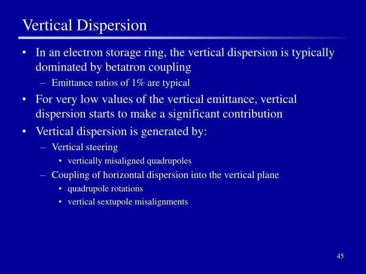 Vertical Dispersion