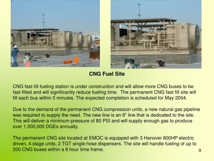 CNG Fuel Site