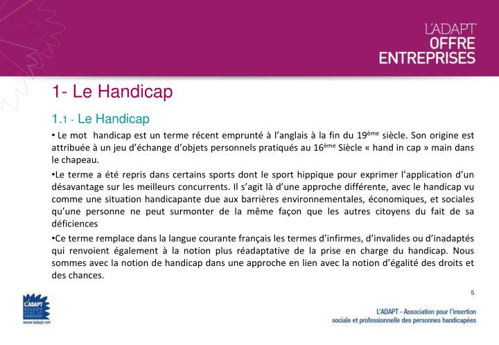 1- Le Handicap