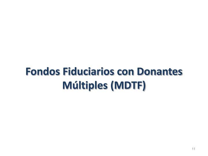 Fondos Fiduciarios con Donantes Múltiples (MDTF)