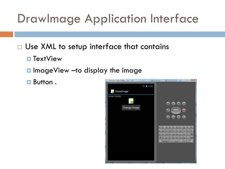Drawimage application interface