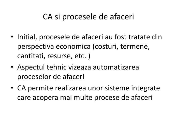 CA si procesele de afaceri