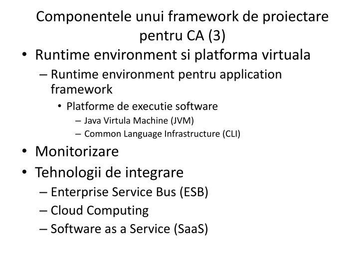 Componentele unui framework de proiectare pentru CA (3)