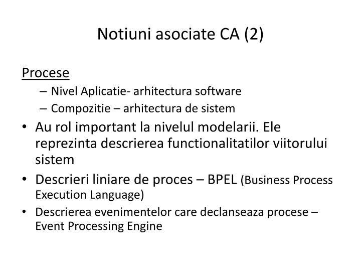 Notiuni asociate CA (2)