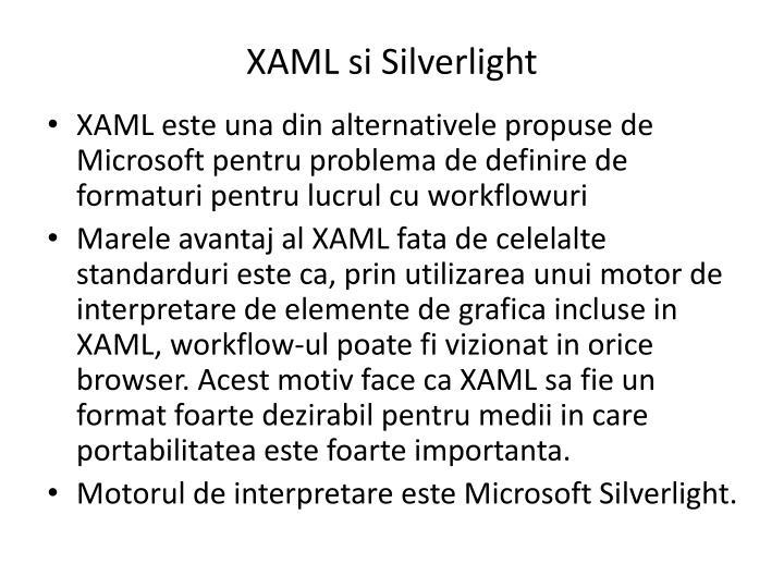 XAML si Silverlight