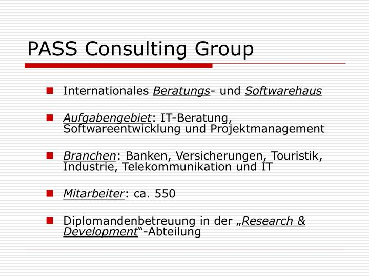 PASS Consulting Group