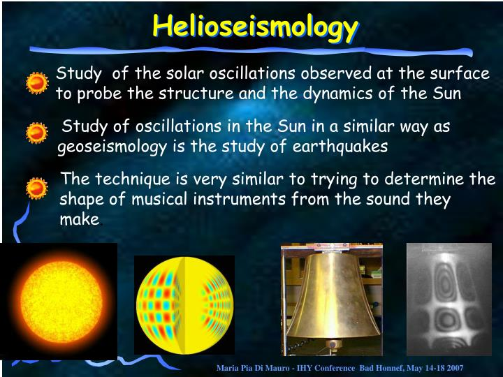 Study  of the solar oscillations observed at the surface