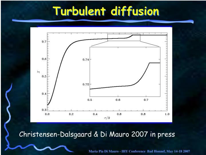 Turbulent diffusion