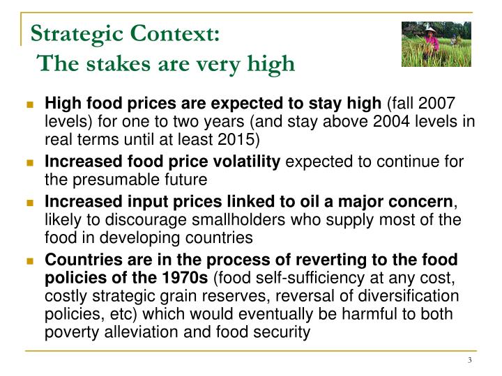 Strategic context the stakes are very high1