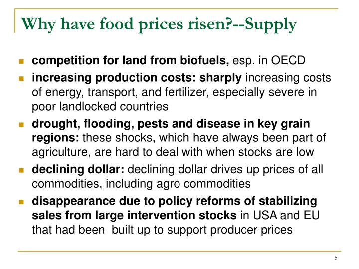 Why have food prices risen?--Supply
