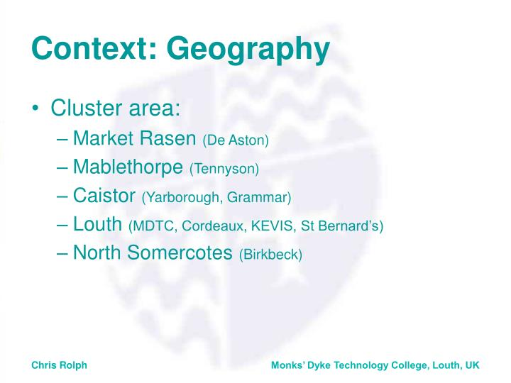 Context geography