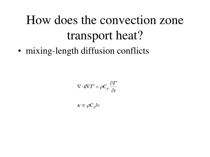 How does the convection zone transport heat?