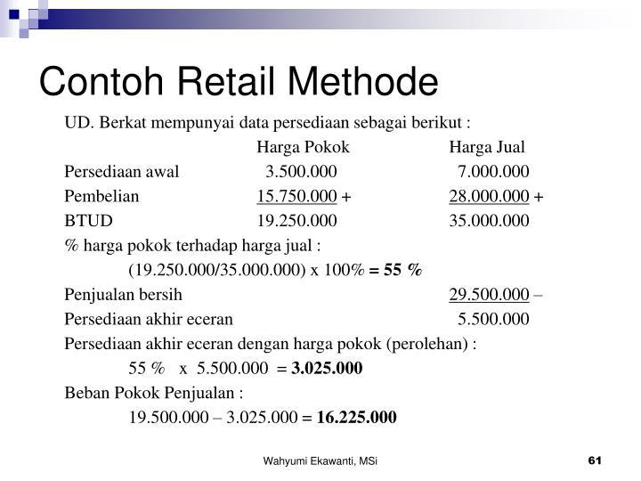 Contoh Retail Methode