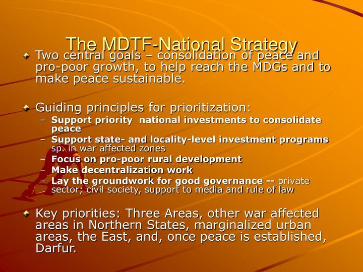 The MDTF-National Strategy