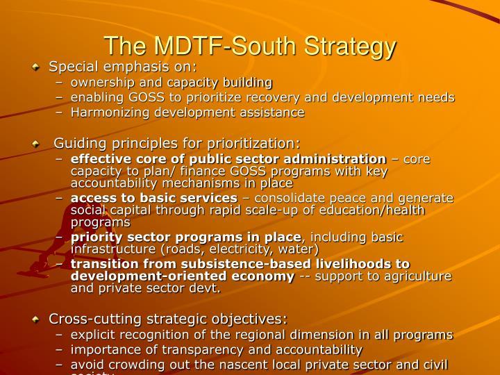 The MDTF-South Strategy