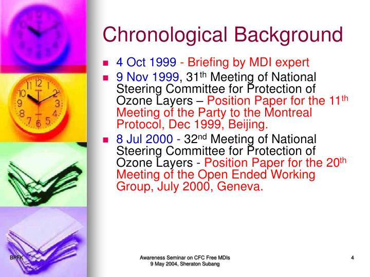 Chronological Background