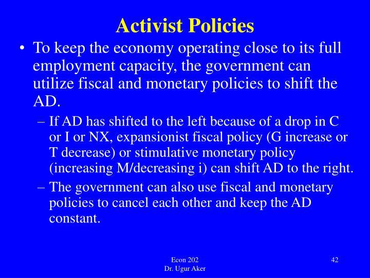 Activist Policies
