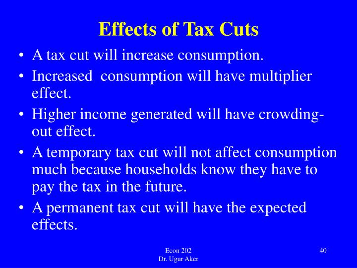 Effects of Tax Cuts