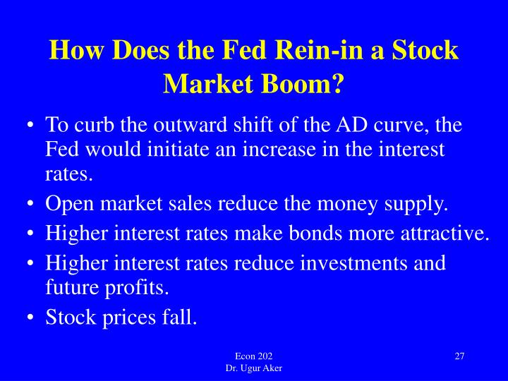 How Does the Fed Rein-in a Stock Market Boom?