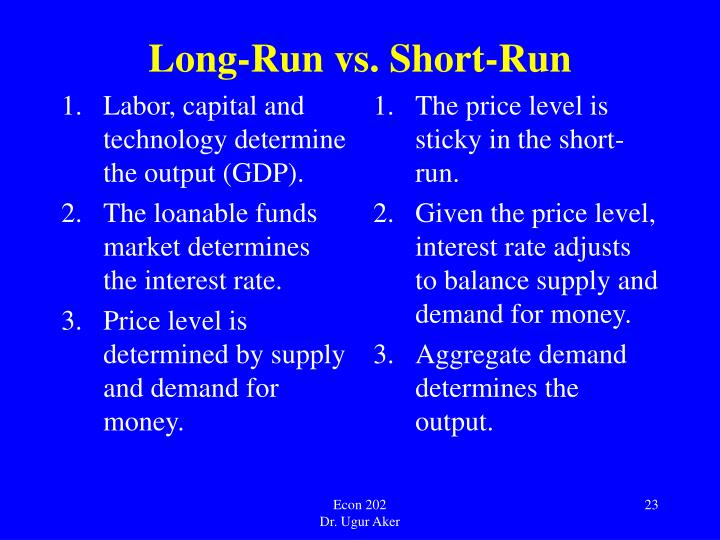 Labor, capital and technology determine the output (GDP).