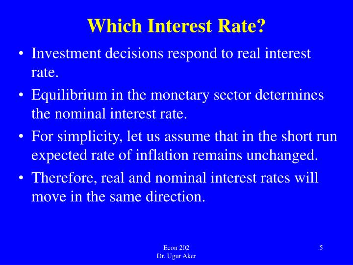 Which Interest Rate?