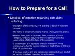 how to prepare for a call1