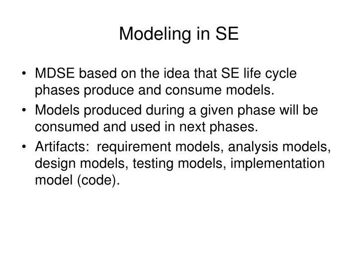 Modeling in SE