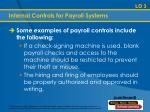 internal controls for payroll systems