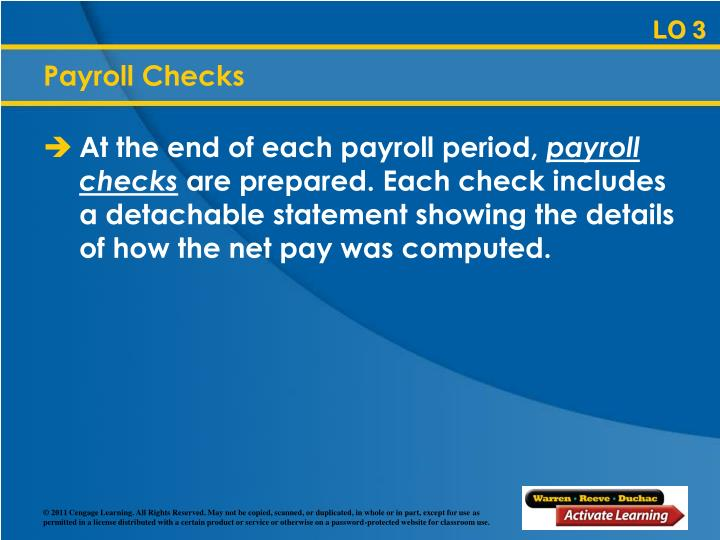 Payroll Checks